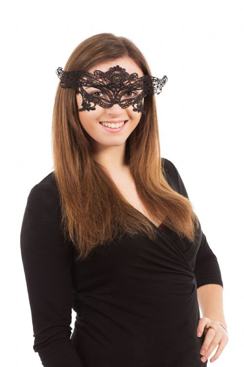 Lace Eyemask Ribbon Tie Masquerade Ball Eye-Mask Eye Mask Fancy Dress